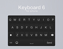 Keyboard 6 for iPhone (FREE PSD)
