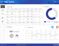 Blue Material Dashboard