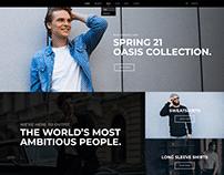 Designer Wear Website Design