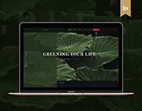 IN.GREEN   Landing Page