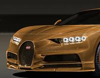 Bugatti Chiron Total Gold