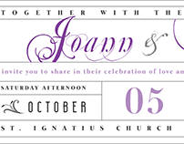 Wedding Invitation Design Project. Client: Won & Joann.