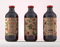 Label Design for natural kombucha