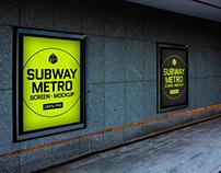 Free Subway Metro Screen MockUp