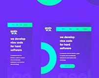 GeeksDoit — Creative landing page using Webflow
