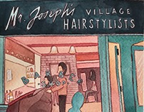 NYC Illustrations: Mr. Joseph's Barber Shop