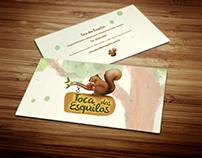 Toca dos Esquilos - Estudo logo e cartão