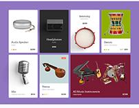 Music - Website |  Web | Graphics | ux | Design