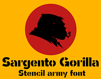 Sargento Gorila -Stencil font-