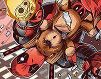 Deadpool comic art
