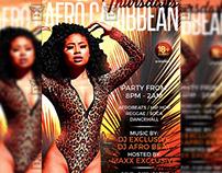Afro Caribbean Thursdays Flyer - Club A5 Template