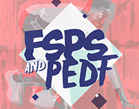 FSPS & PEDF University Party vol. 2 / poster design