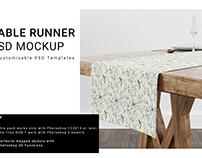 Table Runner Mockup Set