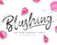 Blushing Script SVG Font