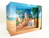 TUNNEL BOOK Hawaiian Tropic