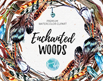 Enchated Woods Watercolor Collection