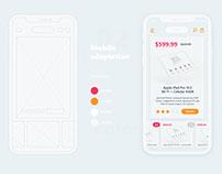 iOS Store App Interface. UI/UX design