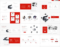 Best Red business Report PowerPoint template