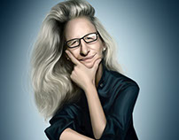 Annie Leibovitz caricature