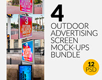 Outdoor Advertising Screen Mock-Ups Bundle
