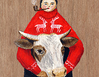 Man and Cow, 2010