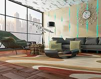 living room design (3dsmax)