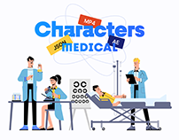 Medical Characters Illustration Pack