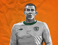 Richard Dunne - Ireland v Russia