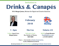 Drinks with Margot James, with the Conservative party