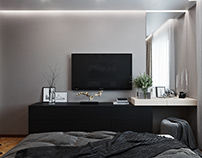 Tender bedroom for a young couple