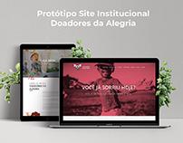 Protótipo Site Institucional - Doadores da Alegria.