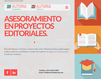 Autoría Editorial – Rediseño web en Wordpress