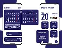 Calendar UI Concept