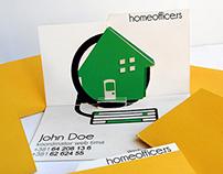 homeoffice logo / origamic business card