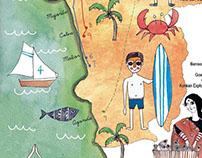 Illustrated Map Of Goa for Juice Magazine