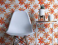 Orange Daisies Pattern Design