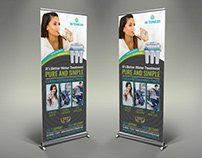 Water Treatment Services Signage Banner Roll Up Templat