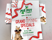 Mr Pet Flyer and Banner