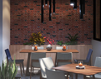 Cafe interior design renderings