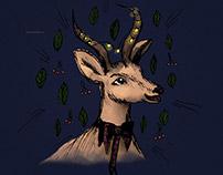 Иллюстрация к новогодней открытке
