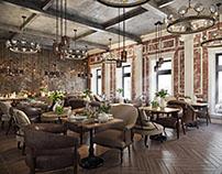 Restaurant Interior Design Rendering by ArchiCGI