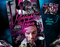 Midnight Trance Flyer Template