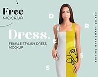 Free Elegant Dress Mockup for Fabric Designers