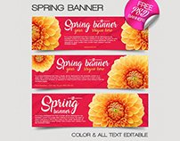 3 Free Spring Banner IN PSD