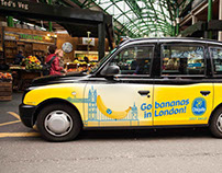 CHIQUITA Go bananas in London | Taxi advertising