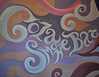 Wall painting. Gaza Smoke Bar
