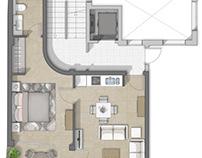 Planos con texturas para apartamentos en Malaga
