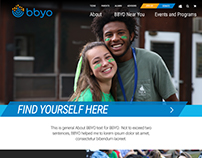 BBYO Website Design