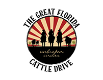 Round Logo for the Great Florida Cattle Drive