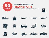 JI-Glyph Transport Icons Set